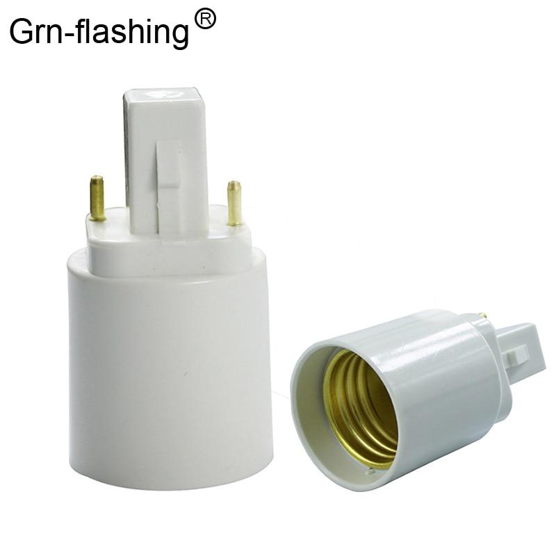 1Pcs Retardant G24 To E27 Lamp Holder Converters Light Bulb Base Socket LED Halogen CFL Lamp Converter G24 Bulb Adaptor Screw