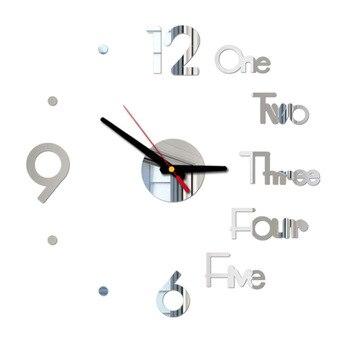 DIY Digital Wall Clock 3D Mirror Surface Sticker Silent Clock Home Office Decor Wall Clock for Bedroom Office 9
