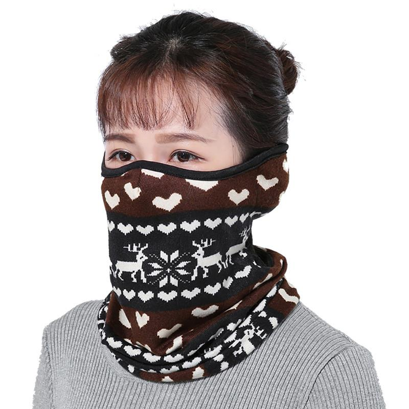 3 In 1 Warm Cycling Face Mask Windproof Ear-Protective Face Cover Mask Winter Neck Warmer Clothing Accessories For Christmas