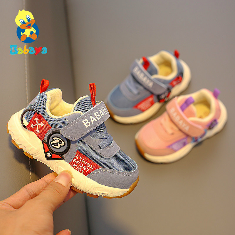 Toddler Shoes Sneakers Soft-Soled Girls Breathable Fashion Children 1-3-Years-Old