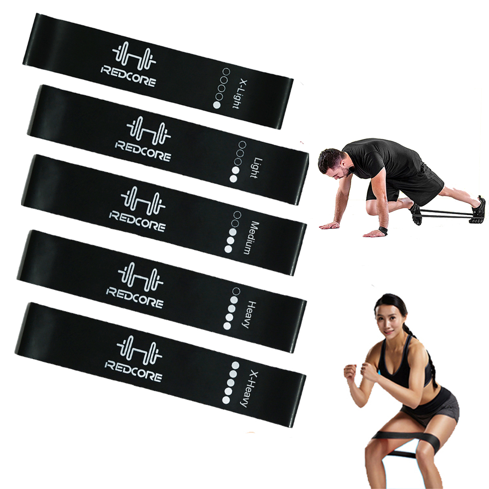 Rubber Resistance Bands Mini Loops Set For Men Exercise Gym Fitness Yoga Glute Legs Outdoor Indoor Sport Training Elastic Band