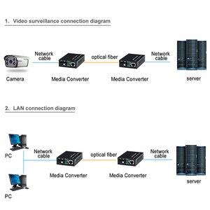 Image 4 - 1 para optyczny konwerter światłowodowy 10/100M jednomodowy Simplex Transceiver światłowodowy pojedynczy konwerter światłowodowy 1310/1550nm 20km SC