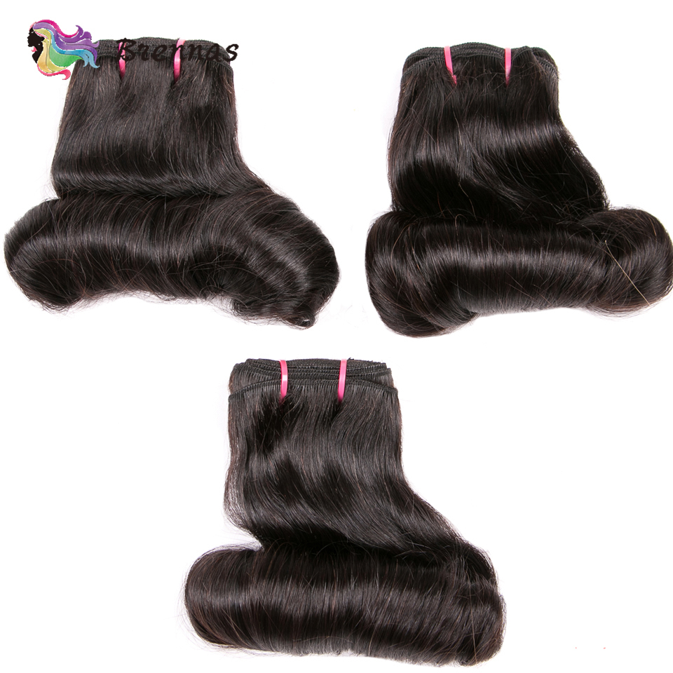 bundles Funmi double drawn bouncy curly hair weave bundles High Ratio  hair extension natural color  1