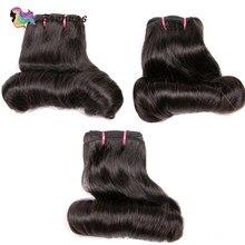 Человеческие волосы пряди от тетушки Фунми двойные вытянутые волосы волнистые волосы пряди волос пряди высокий коэффициент бразильского в...