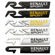 3d metal emblema traseiro gt rs esporte emblema etiqueta da cauda para renault duster megane 2 3 captur logan clio fluência accessorie