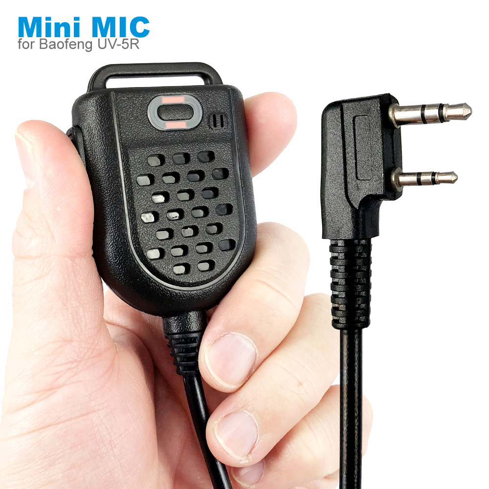 Mini PTT LED Shoulder Speaker Mic Microphone For KENWOOD TK-3107 BAOFENG BF-888s UV-5R GT-3TP HYT Walkie Talkie Two Way Radio