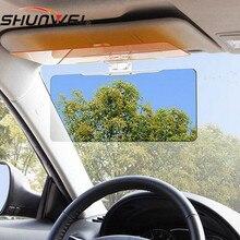Автомобильные антибликовые очки, зеркальный автомобильный солнцезащитный козырек, солнцезащитный козырек, автомобильный солнцезащитный козырек с очками ночного видения+ солнцезащитные очки