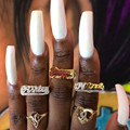 Aurolaco Nach Name Ring Gold Persönlichkeit Hip Hop Ring Frauen Mode Punk Brief Ring Geschenk