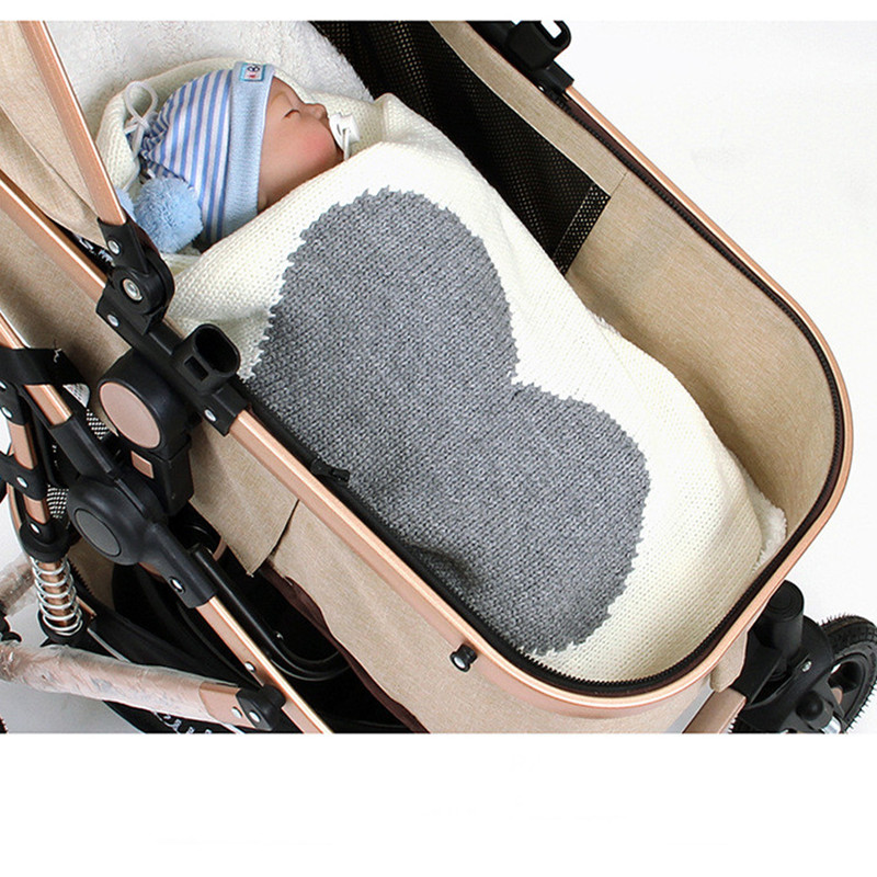 Baby Newborn Swaddle Wrap Blankets Infant Baby Receiving Blanket Cotton Baby Crib Bedding Stroller Blankets Knitted Baby Blanket