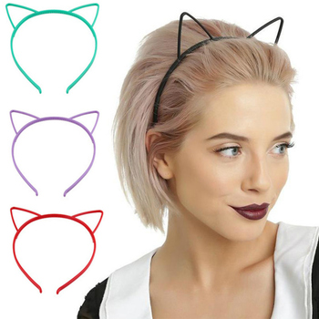 Baby Party Props Sexy Black Cat Ears Girl Headwear Lady Stylish Headband Hair Hoop Accessories for Women Hairband Kids Head Band image