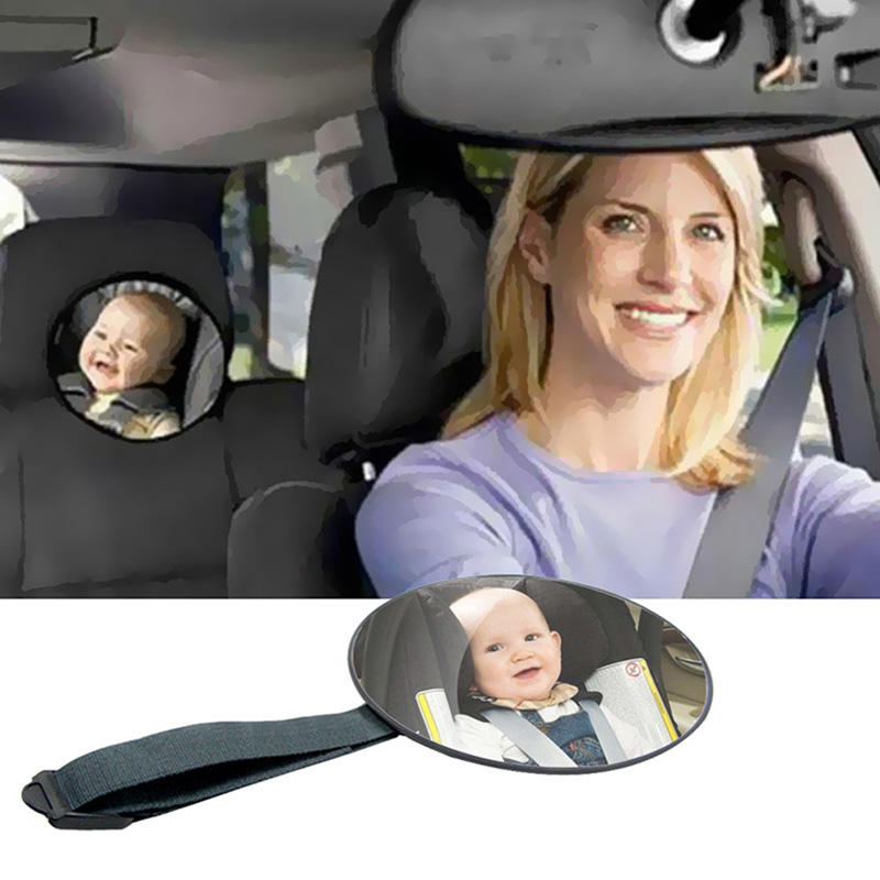 Baby Car Mirror Safety View Back Seat Mirror Baby Facing Rear Ward Infant Care Round Shape Baby Kids Monitor Car Accessories