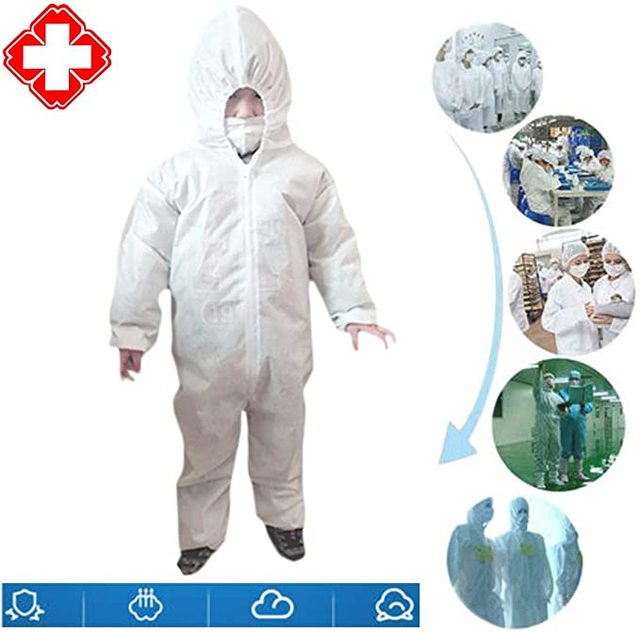 Anti-virus PPE Baby Kids Safety Clothing Dust Suit Disposable Overall Protection Clothing Fast Shipping