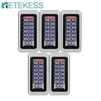 5pcs Retekess T AC03 Keypad RFID Access Control System Proximity Card Standalone 2000 Users Door Access Control Waterproof