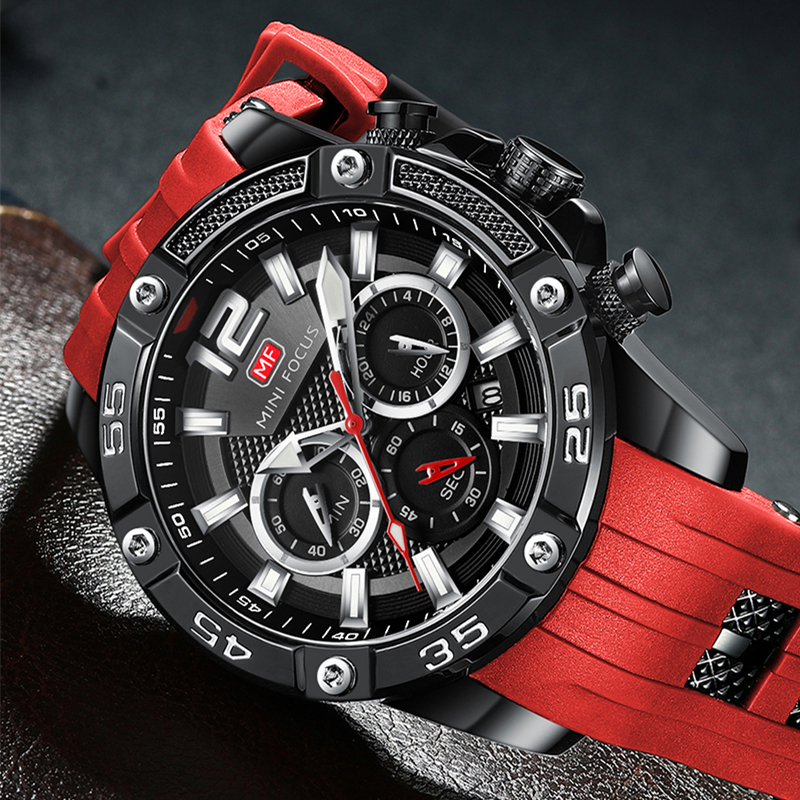 MINI FOCUS Mens Wrist Watches Luxury Design Quartz Watch Men Waterproof Sport Fashion Brand Reloj Hombre Montre Homme Wristwatch
