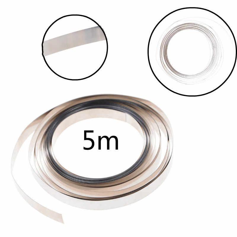 Mới 5 M Nguyên Chất Niken Dải Băng Cho Cho 18650 AAA Pin AA Mỏ Hàn Tương Thích Cho Điểm Máy Hàn Máy 8 Mm X 0.1 Mm