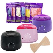 MEIERLI parafina podgrzewacz do włosów krem do depilacji 100g wosk fasola maszyna do wosku cieplej grzałka profesjonalne Mini SPA ręce stóp tanie tanio MEIERLI Professional 750G YH001-3 EU US AU UK PLUG 110-127V 220-240V Wax Heater Bikini 18*18*14cm Black Pink Purple Wax Heater+100g Wax beans+10Pcs Sticks