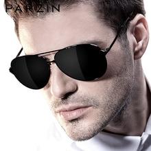 PARZIN الكلاسيكية الطيران الرجال النظارات الشمسية العلامة التجارية تصميم سبيكة الإطار الطيار نظارات شمسية مستقطبة للقيادة الذكور أسود UV400