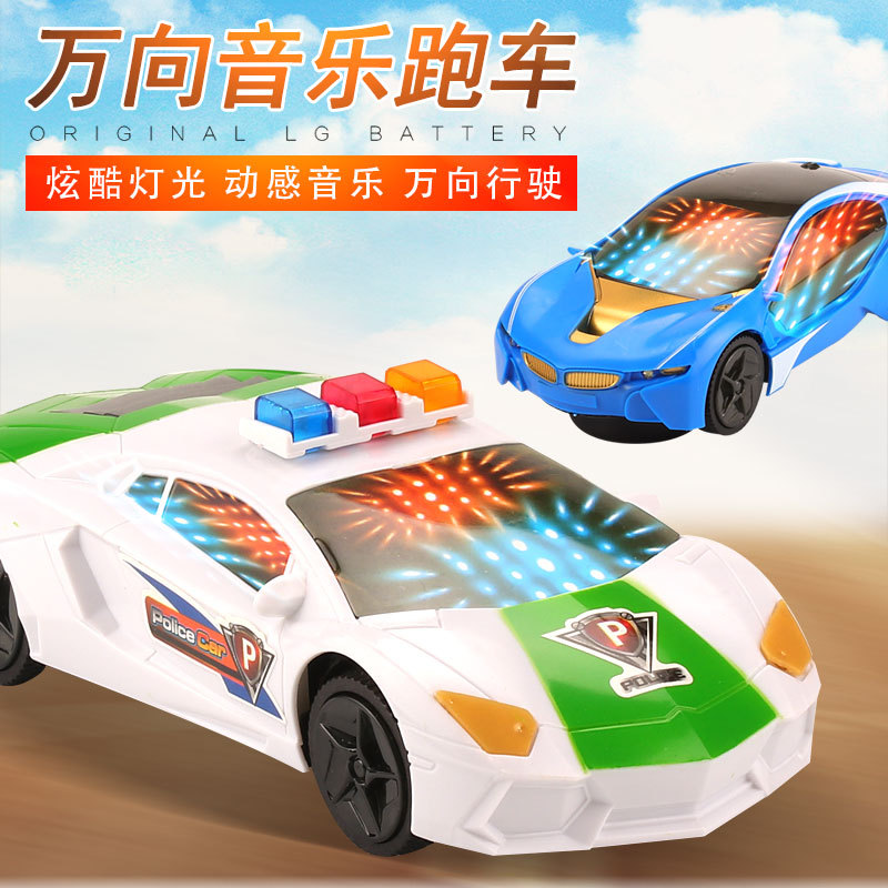 Wholesale Children Creative Toy Car Universal Cool Flash Music Sports Car Electric Manufacturers Direct Selling Sell Crazy Hot S
