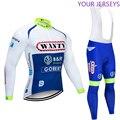 Зимняя команда, 2020, уанти, термо флис, Велоспорт, Джерси, велосипед, брюки, набор, мужские, 9D колодки, Ropa Ciclismo, одежда для велоспорта, Майо, кюло...