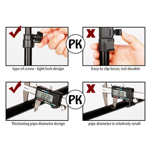 Image 4 - 写真撮影のt型の背景の背景スタンド調節可能なサポートシステム写真不織布モスリンの背景