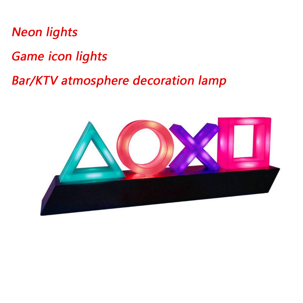 Voice Control Game Icon Light Acrylic Atmosphere Neon Dimmable Bar Atmosphere Lampara Club KTV Decorative Light Dropshipping 10