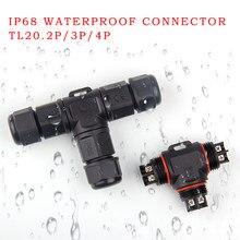 IP68 wodoodporne złącze 2 Pin 3 Pin w domu poprawy złącze kabla w kształcie litery T T20 IP68 wodoodporne złącze
