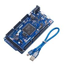 A CAUSA di R3 Bordo SAM3X8E 32 bit ARM Cortex M3 / Mega2560 R3 Duemilanove 2013 Per Arduino DUE Board Con Cavo trasporto Libero