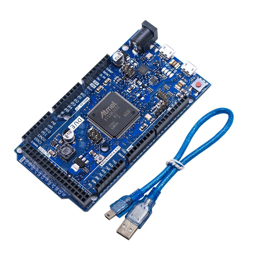 Плата DUE R3 SAM3X8E, 32-битная ARM Cortex-M3 / Mega2560 R3 Duemilanove 2013 для Arduino Due Board с кабелем, бесплатная доставка
