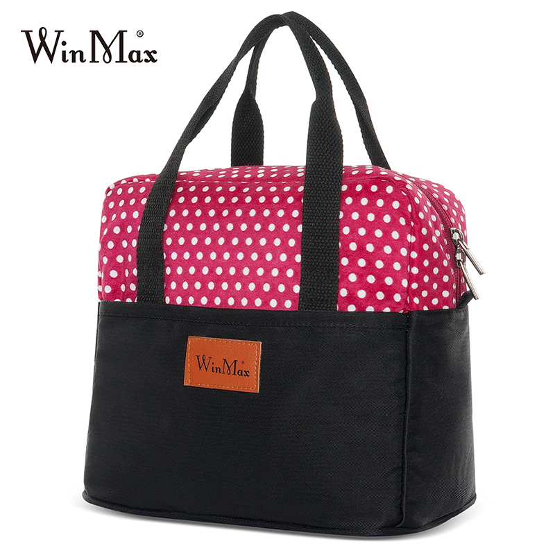 2019 Winmax New Wave Point LunchBag Cooler Lunch Box Portable Insulated Cooler Bag Thermal Food Picnic Lunch Bags For Women Kids