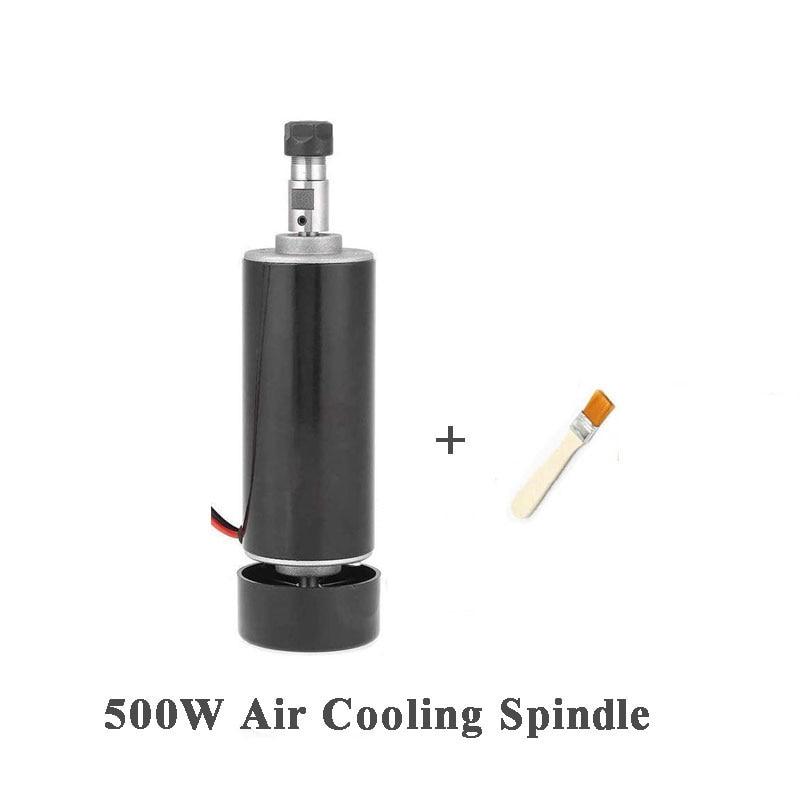 Бесплатная доставка 500 Вт ER11 Цанга 52 мм DC 0-100 CNC резьба фрезерование фрезерный воздушный холодный Шпиндельный двигатель для гравировки runout м...