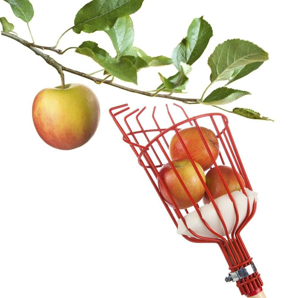 Garden Tools Metalic Fruit Picker Gardening Fruits Collection Picking Head Tool Fruit Catcher Device Greenhouse Fruit Picker