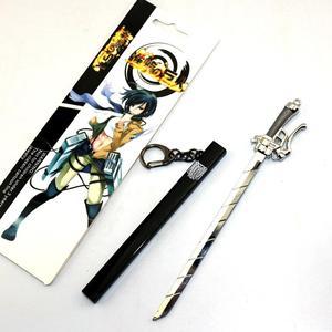 Японское аниме атака на Титанов меч сплав брелок Shingeki no Kyojin игрушки Eren Mikasa Armin Rival Erwin модель оружия