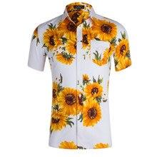 купить Mens Hawaiian Shirt Male Casual camisa masculina Printed Beach Shirts Short Sleeve Summer men clothes 2019 US Size S-XXL дешево