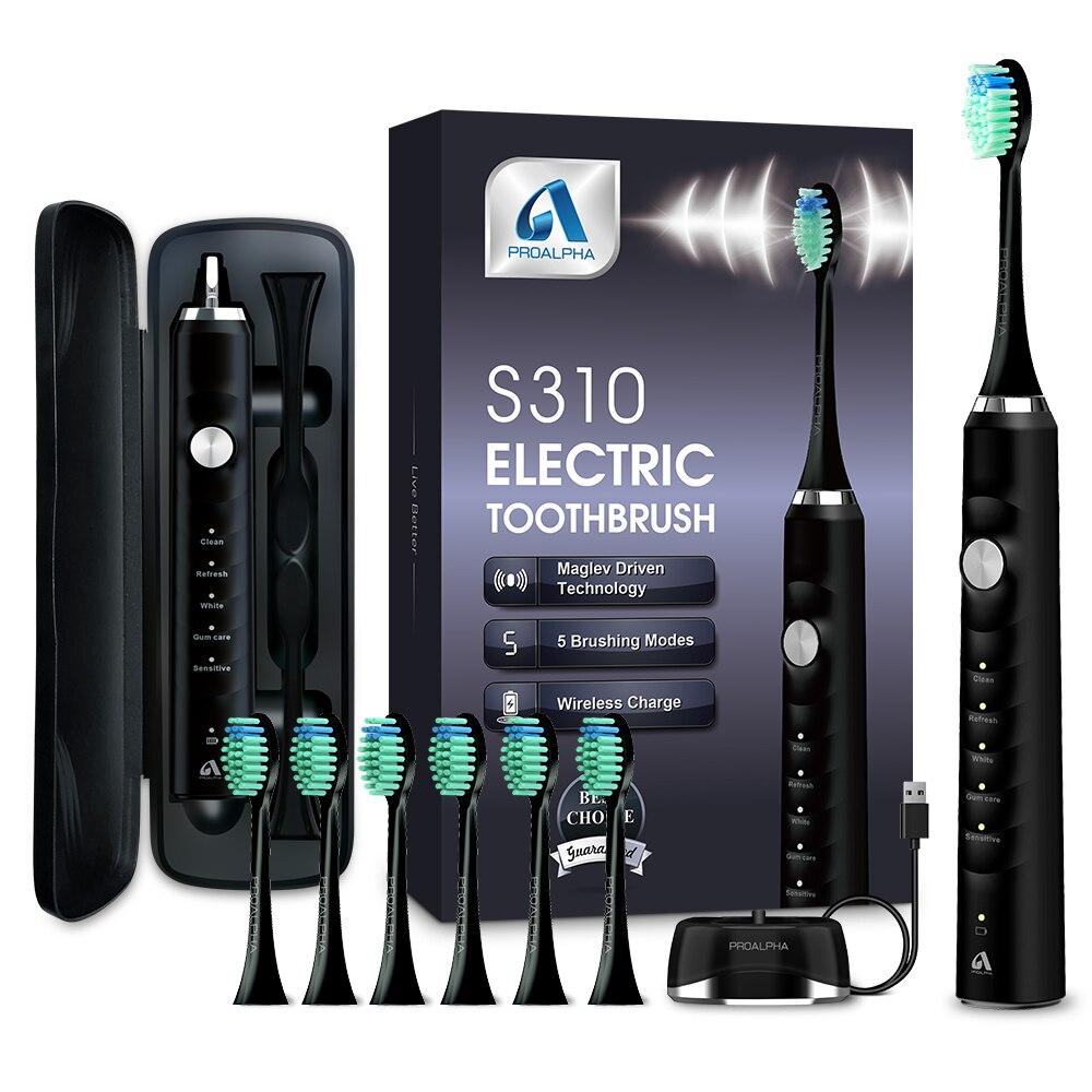 qualidade superior sonic eletrica escovas de dentes proalpha recarregavel branqueamento viagem levar escova de dentes com