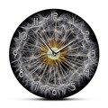 Круглые Настенные часы с напечатанной головкой в виде монахов  с изображением одуванчика  ирландской маргаритки  часы с цветочным рисунком ...