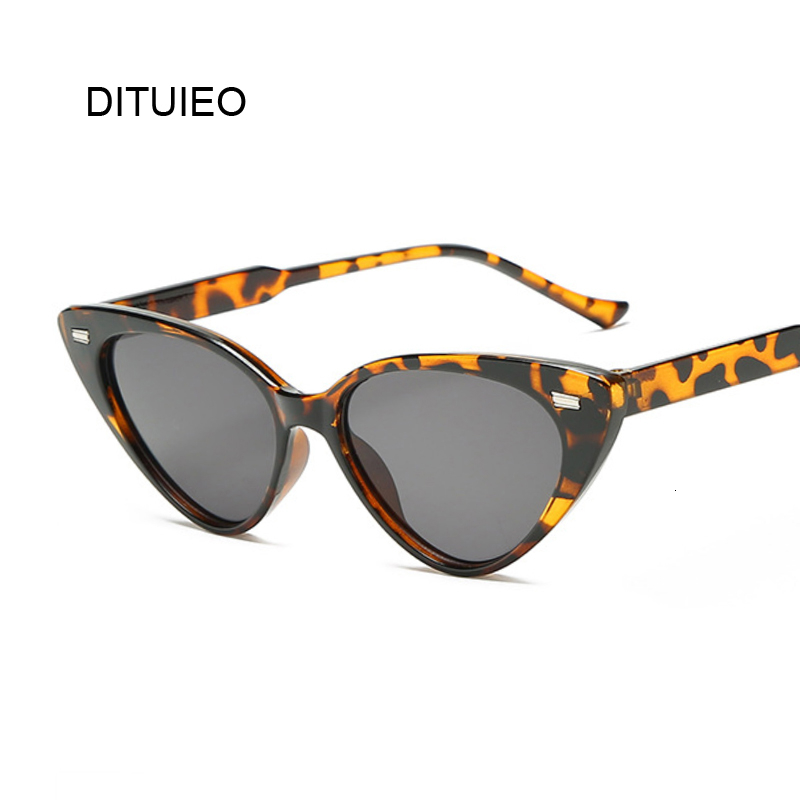 New Cateye Vintage Black Sunglasses Women Brand Designer Retro Points Sun Glasses Female Superstar Lady Cat Eye