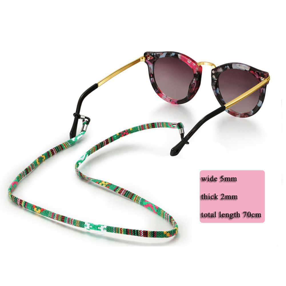 Estilo étnico hecho a mano tejido gafas cadena gafas de lectura cuerda gafas de sol Correa cordón soporte cuello banda Accesorios