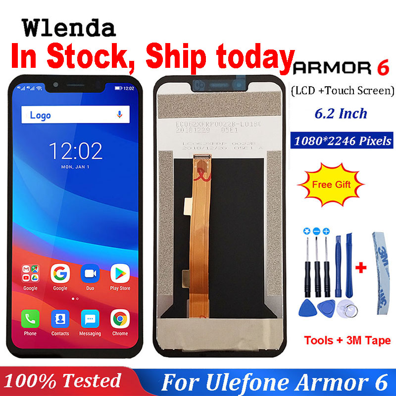 For Ulefone Armor 6 LCD Display+Touch Screen Assembly Repair Part 6.2 inch Phone Accessories For Ulefone Armor 6(China)