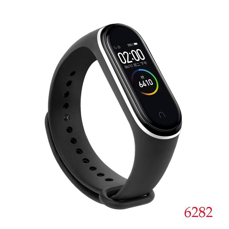 Для Xiaomi Mi Band 4/3 ремешок Металлическая пряжка силиконовый браслет аксессуары miband 3 браслет Miband 4 ремешок для часов М - Цвет: 6282