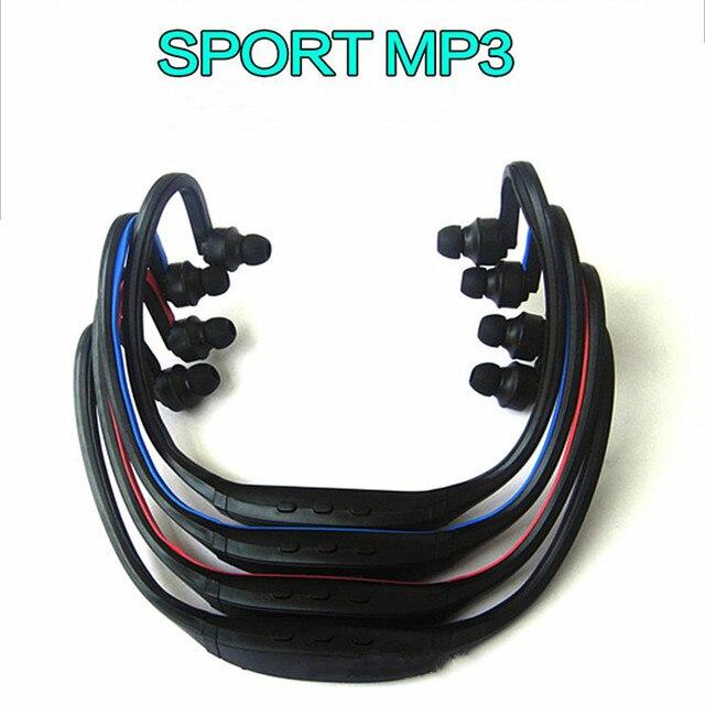 Fones de ouvido sem fio esportivos, headset com cartão tf e reprodutor de música mp3, rádio fm, envio direto
