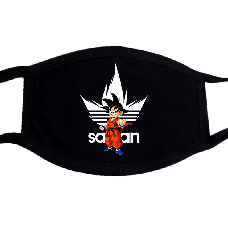 Anime Black Mask Dragon Ball Small Goku Super SaiYan Printing Washable Mouth Muffle Masks Anti-pollution Protection Face Cover
