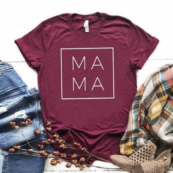 MAMA Letter Print T Shirt Women Short Sleeve O Neck Loose Tshirt 2020 Summer Women Causal Tee Shirt Tops Camisetas Mujer letter print stepped hem tee
