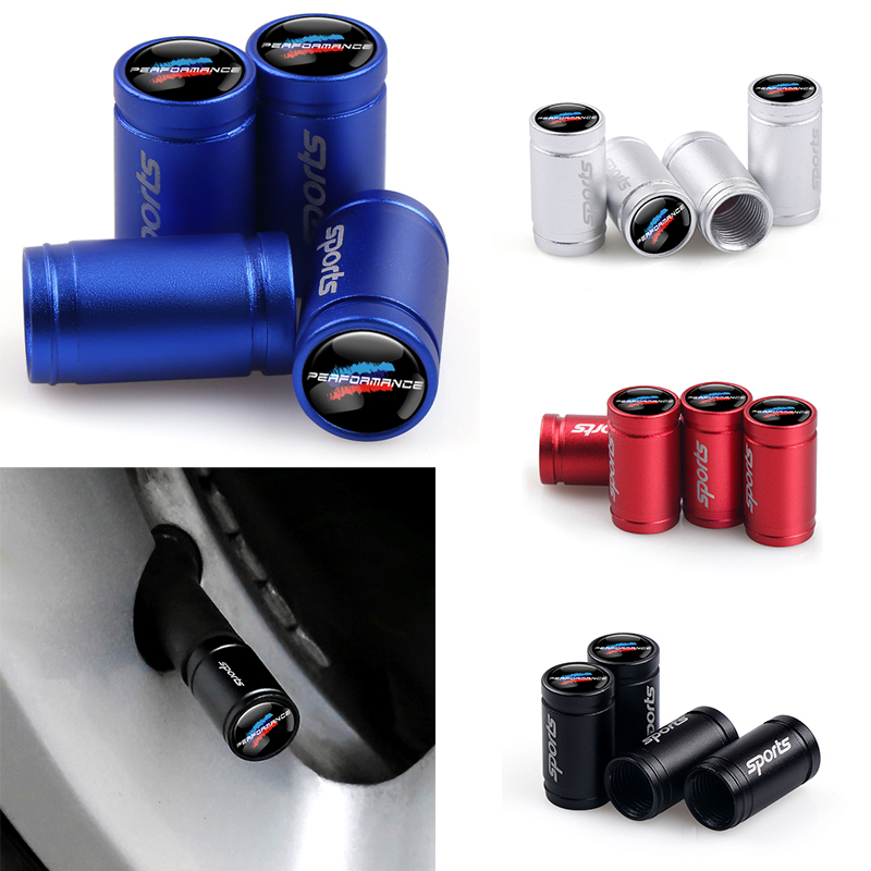 4pcs New Performance Sport Car Tire Wheel Valve Cap Air Cover For Bmw X1 X3 X4 X5 X6 X7 E46 E90 F20 E60 E39 F10 Car Accessories