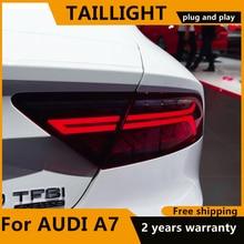 Car Styling Luci di Coda Fanale Posteriore Accessori Per Audi A7 2011 2012 2016 2017 di Coda A LED Luce Posteriore Della Lampada di Dinamica indicatori di direzione