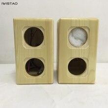 Iwistao Dual Full Range Unit Lege Luidspreker Kast 1 Paar Grenen Massief Hout Voor Weergaloze 2.5 Inch Diy