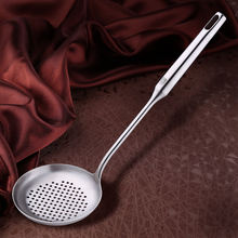 Stainless steel household big scoop thickened long handle noodle