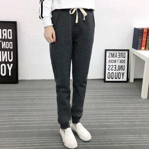 Image 3 - Jvzkass pantalones de chándal de talla grande para mujer, pantalón informal de lana de cordero, con relleno de terciopelo, Z54, para invierno, 2020