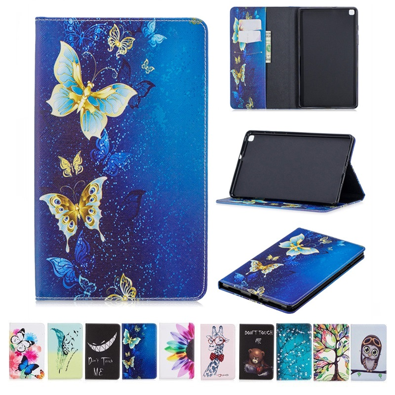 For Samsung Galaxy Tab A 10 1 2019 Case SM-T515 T510 Cover Smart Painted Leather Tablet Case Fundas For Samsung Tab A 10.1 2019