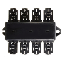 20 Slot Blade Fuse Holder 8 Way Relay Box Circuit Protector Distribution Block Car