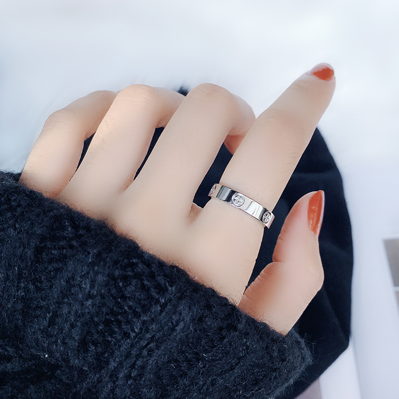 Classic Stainless Steel Screw Rose Gold Silver Color Rings Filled Love Wedding for Men Women Engagement Jewelry (GR228) 4